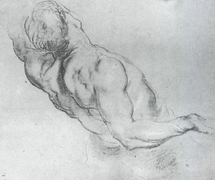 Питер Пауль Рубенс.  Эскиз фигур для картины 'Поднятие креста'.